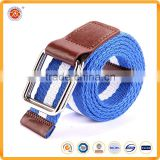 London style custom waist belts fashion braided belts canvas waist belts with double d-ring for men