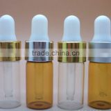 13mm screw type of rubber head twist up with aluminium collar dropper bottle in cylinder 3ml glass dropper bottle