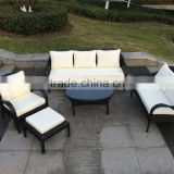 Outdoor Garden Rattan Wicker Patio Furniture Set LoveSeat and Chair Sofa Furniture Seat Brown with Cushion