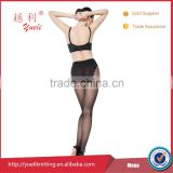 Sexy black sex fishnet ladies evening dress pantyhose