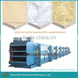 Stone surface polyurethane sandwich panel production line/artificial marble baseboard pu sandwich panel making machines.