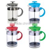 New 350ml 11oz. Tea and coffee plunger coffee maker french press with stainless steel filter