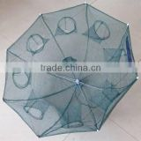 Umbrella lobster trap with 8 entrances, fish net, folding fishing tackle