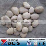 white Cobble Pebble Stone high polished super grade luxary decorative stone, Landscape stone