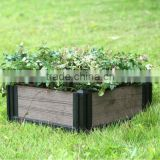 Outdoor WPC garden Flower Pot wood plastic Composite cheap flower pots WPC flower bed
