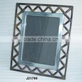Aluminium Photo Frame in mirror polish and terracota finish zig zag design also available in Mat