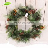 GNW CHWR-1605018 Trade assurance decorative gift christmas wreath real for sale