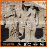 Hight quality wholesale hand carved natural limestone acient Rome figure statues/sculptures