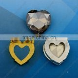 Black Diamond Heart crystal Acrylic Rhinestones, Garment Accessories