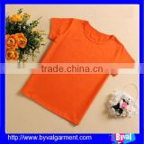 China supply round neck kids top quality cotton shirt