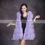 2016 hot sales europe style made in China woman real fox fur skin Fur Gilet