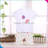 BS041201 Natural organic cotton baby clothing baby short sleeve Printing clothing