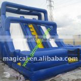 2014 exciting super water slide inflatable slide connect with swimming pool