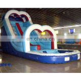 Inflatable love water pool slide