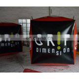 2016 new red and black inflatable cube buoy with customized logos for swim event