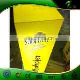 Professional Yellow Acrylic Cube With LED lighting For Cheap Price