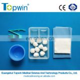 Medical Basic Dressing Set(surgical) for wound care and operation with ISO13485 and CE (Nonwoven)