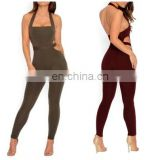 Mika72189 Halter Neck Night Club Jumpsuit Ladies Sexy Backless Jumpsuit Romper Summer Strapless Skinny Bodycon Jumpsuit