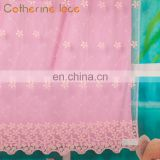 Catherine Top Quality European Embroidered Sheer Voile Lace Fabric Curtain