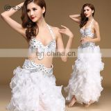 New arrival ariental performance 3 pcs suit beaded belly dance costumes