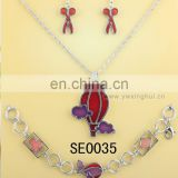 Wholesale costume jewelry lead and nickel safe alloy fire balloon necklace