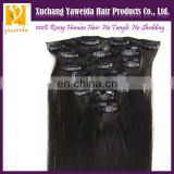 Wholesale - 100% Indian Human Hair Straight Clip In Extension 20inch Black Remy Cheap Good