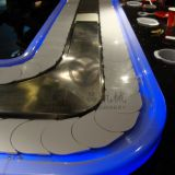 LED Lights 30 X 30 Angle Iron Sushi Conveyor Belt For rotary Sushi Buffet Restaurant