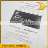 Anti-virus software activation card, Product activation card, Scratch off activation card