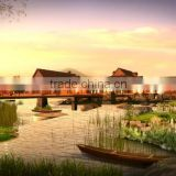 Landscape design render architectural visualation