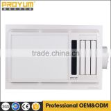 Bathroom Master/PTC Heater 4-in-1 with 5000K color temperature LED illumination and temperature display