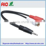 3.5mm Stereo Mini Plug to Dual 2-RCA Jack audio Adapter Cable - 6 in.Change the Connector Type