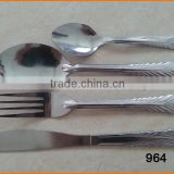964 Spoon Knife and Fork Dinner Sets Stainless Steel