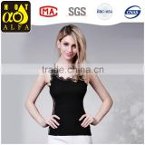 Women Vests Summer Mesh Chiffon Vest Tops Lace Sleeveless Sexy Black Transparent Camisole