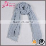Latest design shawl scarves Malaysian solid color plain viscose scarf wholesale suppliers