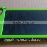 Hot sales Promotional Gift Solar Charger 4050mAh Key Chain Solar Power Bank External Battery Pack For Smart Phone.