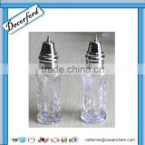 HOT Sale tall glass salt and pepper shakers with metal bottle caps