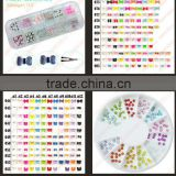 Nail Art 5mm bow tie Wheel 3D Design Decoration Tips UV Acrylic clay Manicure Rhinestones! DIY Hot