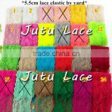5.5 cm elastic lace fabric, lace dress sleeve, lady lace scarves, lace clithing material
