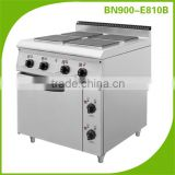 Commercial stainless steel kitchen equipment free standing electric hot plate cooker with oven BN900-E810B