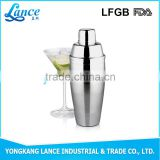 UK popular bar tools 750ml stainless steel Luxe cocktail shaker