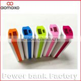 Amk-003 christmas Promotional gift power bank 2600mah abs material power bank lowest price power bank