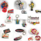 wholesale personalised coach 2d 3d soft pvc keychains factory