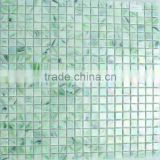 Solid Green Thickness 4mm Vitrified Glass Mosaic Tiles & Iridescent Glass Tile Foshan Factory