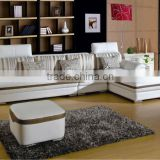 latest comfortable cheap sofa / luxury white color living room sofa set / L-shaped high density foam sofa set L11