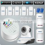 KERUI W2 with smoke detector motion sensor cell phone controlled remote camera alarm system