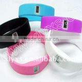 Printed Silicone Wristband, Rubber Balance Bangle, Bands