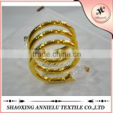 2015 wholesale metal gold napkin rings for wedding decoration