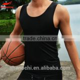 Customized Guangdong factory sublimation compression vest shirt men