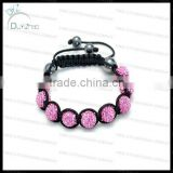 Fashion clay bead custom shamballa bracelet