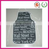 Plain design cheap word sign printing pvc cotton apron                                                                         Quality Choice